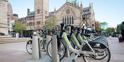 Hubway Bikes at Copley Square, Boston