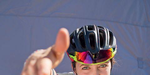 Pro mountain biker Kate Courtney raps