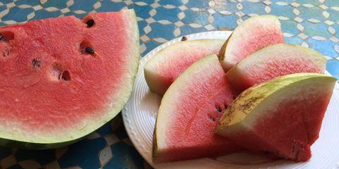 Food, Fruit, Produce, Melon, Citrullus, Ingredient, Pink, Sweetness, Peach, Natural foods,