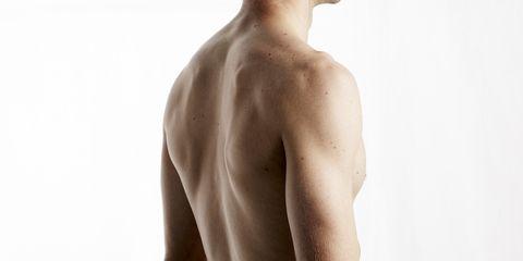 Skin, Shoulder, Barechested, Joint, Standing, Chest, Jaw, Waist, Trunk, Abdomen,