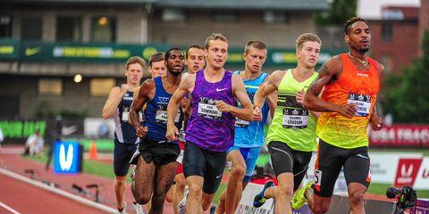 Track and field athletics, Sports uniform, Sport venue, Shoe, Recreation, Athletic shoe, Sportswear, Race track, Active shorts, Endurance sports,