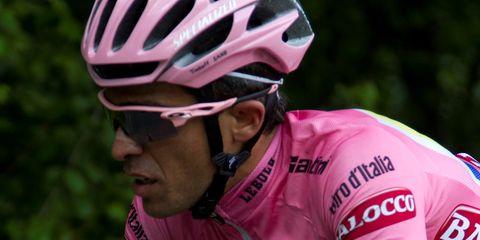 Alberto Contador showed his professionalism during the 2015 Giro d'Italia