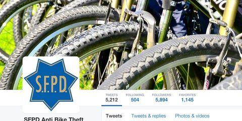 SFPD Bike Theft on Twitter