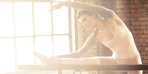 This ballet barre workout will tone and trim you.