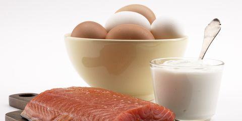 Food, Ingredient, Egg, Serveware, Cuisine, Peach, Milk, Dairy, Plant milk, Kitchen utensil,