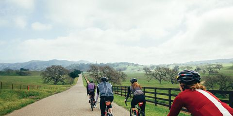Riders take to the road during Bicycling's #GetSomeOne riding campaign