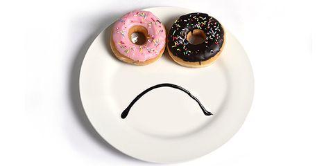 Brown, Circle, Doughnut, Dishware, Dessert,