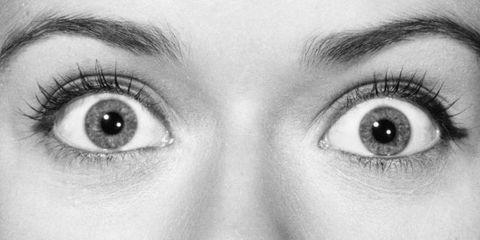 Woman's Eyes Wide Open