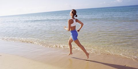 People on beach, Human leg, Barefoot, Summer, People in nature, Beach, Sand, Waist, Ocean, Shore,