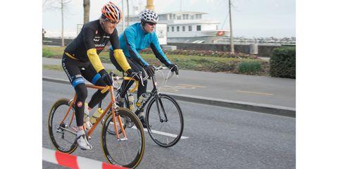 John Kerry Rides a Bike