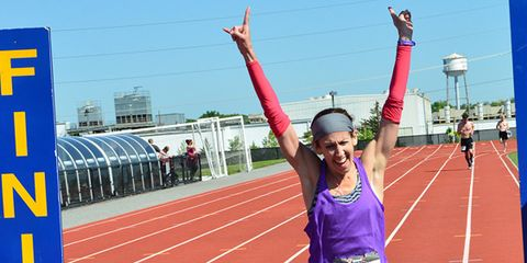 Track and field athletics, Sport venue, Race track, Sports uniform, Endurance sports, Sleeveless shirt, Athlete, Running, Sports, Competition event,