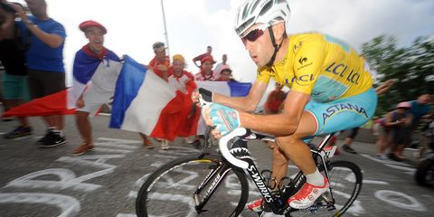 Vincenzo Nibali on Stage 18 of the 2014 Tour de France.