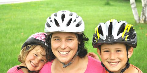Clothing, Face, Smile, Mouth, Fun, Helmet, Bicycles--Equipment and supplies, Bicycle helmet, Personal protective equipment, Recreation,