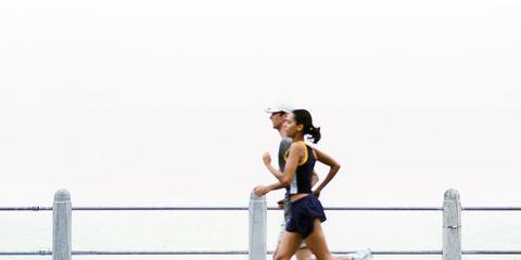 Human leg, Sleeveless shirt, Running, Jogging, Knee, Athletic shoe, Calf, Active shorts, Muscle, Thigh,