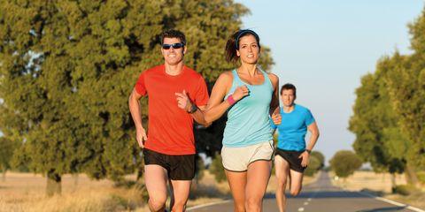 Clothing, Road, Recreation, Asphalt, Human leg, Athletic shoe, Running, Summer, Shorts, Outdoor recreation,