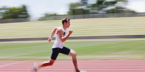 Clothing, Track and field athletics, Race track, Trousers, Athletic shoe, Sport venue, Running, Human leg, Line, Shorts,