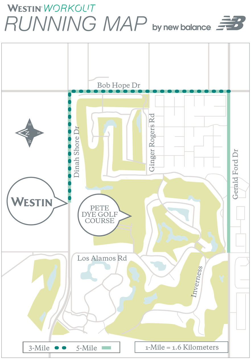 sponsored content running map the westin� mission hills golf
