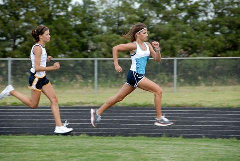 Footwear, Leg, Shoe, Human leg, Recreation, Athletic shoe, Race track, Sports uniform, Running, Endurance sports,