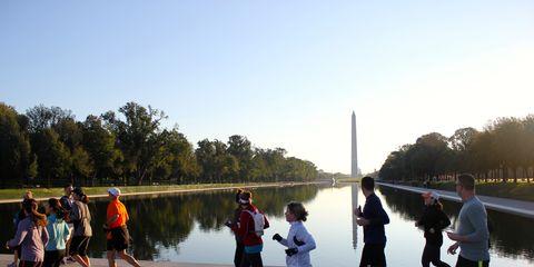 Clothing, Footwear, Obelisk, Recreation, Leisure, Athletic shoe, Shorts, Active shorts, Physical fitness, Morning,