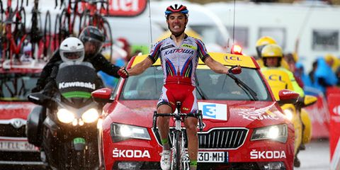 Joaquim Rodriguez soloed for a Stage 12 win