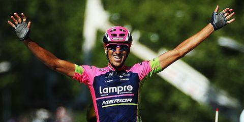 Spaniard Reuben Plaza won Stage 16 in a late solo breakaway