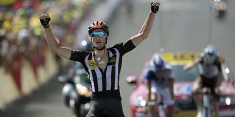 MTN-Qhubeka's Stephen Cummings won Stage 14 of the 2015 Tour de France.