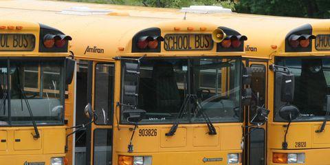 Mode of transport, Bus, Transport, Yellow, Vehicle, Land vehicle, Automotive parking light, School bus, Public transport, Fender,