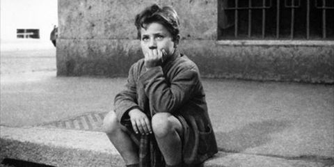 A still image from The Bicycle Thief