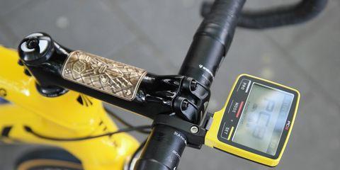 Fabian Cancellara' custom yellow Trek Domane