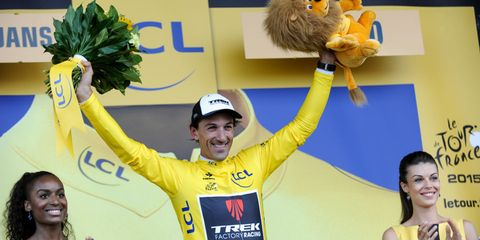 Tour de France yellow jersey holder Fabian Cancellara was among the riders hurt in Stage 3's massive crash.