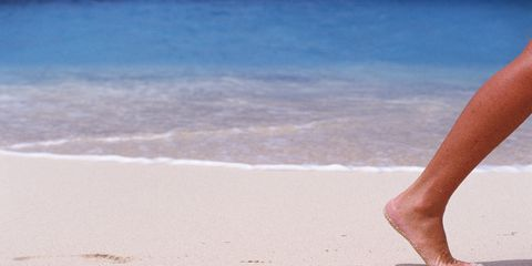 Body of water, Toe, Human leg, Coastal and oceanic landforms, Sand, Summer, People on beach, Barefoot, People in nature, Shore,