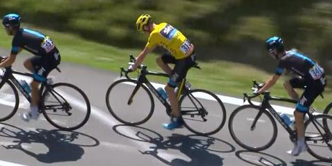 Chris Froome on stage 10 of the Tour de France