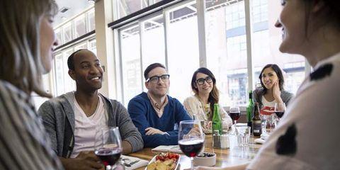 sit down meals at restaurants