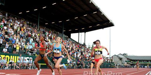Track and field athletics, Sport venue, Sports uniform, Race track, Athletic shoe, Running, Sportswear, Active shorts, Endurance sports, Human leg,