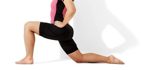 Kneeling Lunge: Lunging can help loosen your hips, leading to better performance on the bike