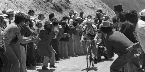 Lucien Van Impe climbs during the 1975 Tour de France