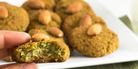 vegan green pea cookies
