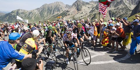 Richie Porte climbs in the Pyrenees on Stage 11 of the 2015 Tour de France