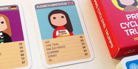 Pro Cycling Trumps: Pro female cyclist trading cards