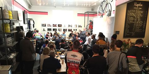 Tour de France viewing party: The Rapha Cycling Club in NYC hosts a watching party with drinks, coffee and plenty of bike talk