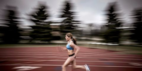 Track and field athletics, Race track, Human leg, Running, Sleeveless shirt, Racing, Athletic shoe, Competition event, Knee, Athlete,