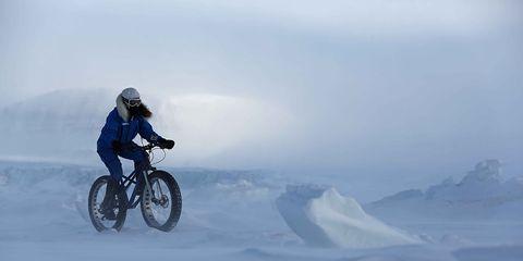 Leeming tested her Christini AWD Fatbike in Spitsbergen, Norway