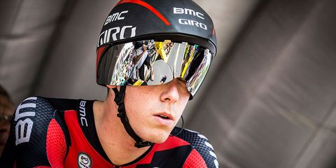 Rohan Dennis starts the 2015 Tour de France Stage 1 time trial