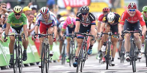 Andre Greipel wins the sprint during Stage 15 at the 2015 Tour de France