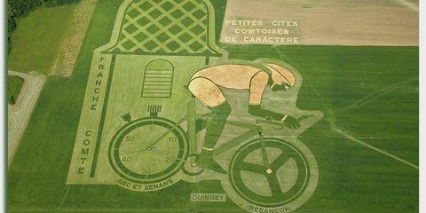 Pierre Duc's land art for the Tour de France