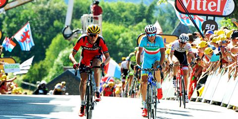 Tejay van Garderen climbs the Mur du Huy in Stage 3 of the 2015 Tour de France