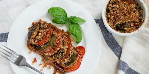 tomato eggplant and potato gratin