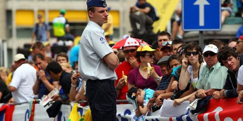 French police guard the Tour de France