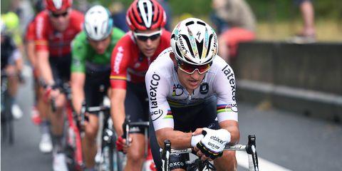 Michal Kwiatkowski races in the 2015 Tour de France