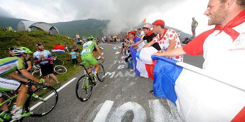 Mountaintop Finish in the Tour de France